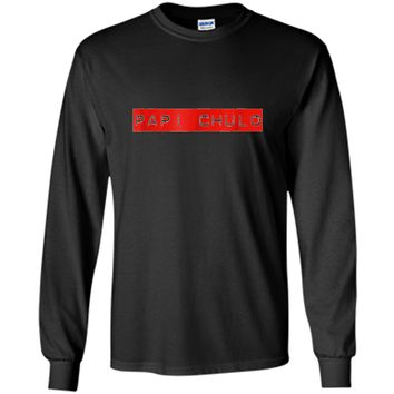 Mens Mens Papi Chulo Shirt Cool Daddy Fathers Day Gift Latino T-S