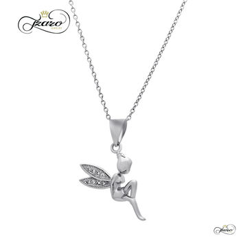 Fairy Wings Necklace, 925 Sterling Silver Angel Pendant, Dainty Necklace