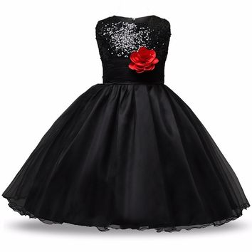 Simple Princess Flower Girl Dress Evening Wedding Party Dresses For Girls Children's Costume teenagers dress Prom Designs