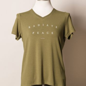 Radiate Peace Bamboo V-Neck Tee