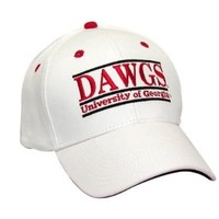 Dawgs, UGA White Twill Hat | University of Georgia (UGA) HATS | Georgia Bulldogs Merchandise | Shop Dawghut.com