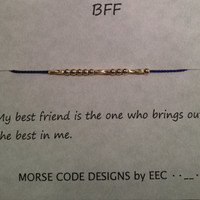 Set of 2 Morse Code Best Friend Necklaces