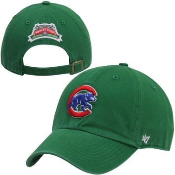 47 Brand Chicago Cubs 100th Anniversary Clean Up Marquee Adjustable Hat - Kelly Green