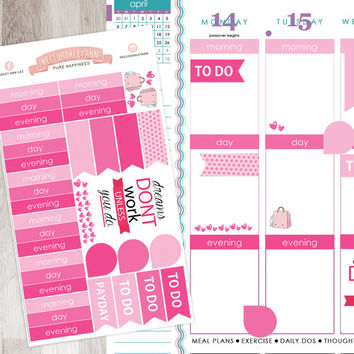 43 Piece Pink Decorating Kit for YOUR planner! | Erin Condren Planner / Plum Paper Planner / Filofax / Kikki K / Planner