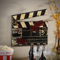 Antiqued Movie Clap Plaque | Kirkland's