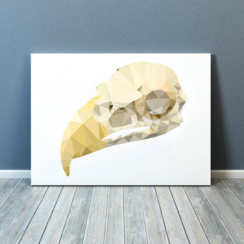 Bird skull poster Anatomy print Modern art Colorful decor TOA90