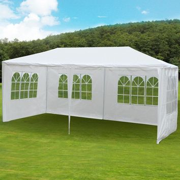 10'x20' 4 Windows Aluminum Patio Wedding Party Gazebos Outdoor Shade Pavilion Canopy Gazebo for Garden Roof Tents
