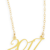 22k Gold Plated Year 2017 Necklace - Brevity