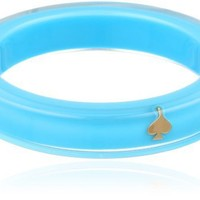 "kate spade new york ""Lacquered Spade"" Turquoise Bangle Bracelet, 7"""