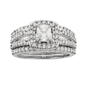 Cushella-Cut Diamond Engagement Ring Set in 14k White Gold (1 1/2 ct.)
