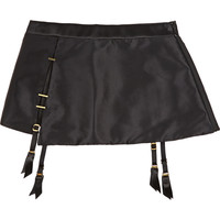 Agent Provocateur - Patti embellished stretch-silk satin suspender belt