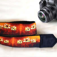 Floral Camera Strap. Flowers Camera Strap. Dslr Camera Strap. Camera Accessories