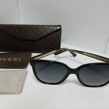 New Gucci Sunglasses Women GG 3819/ 584079 - Black Frame with Gold temple