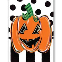 Jack O' Lantern Canvas Flag