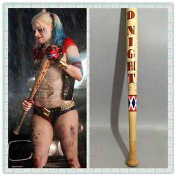 "34"" Harley Quinn Suicide Squad Wooden Baseball bat Cosplay Prop Anime Collection"