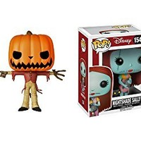 Nightmare Before Christmas Jack the Pumpkin King and Sally with Nightshade Pop! Vinyl Figures Set of 2