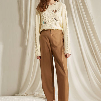 Warm and Dense Wool Pants
