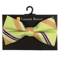 Striped Laurant Bennet Mens Bow Tie