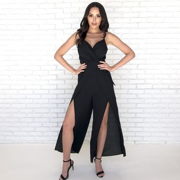 Making Moves Jumpsuit in Black