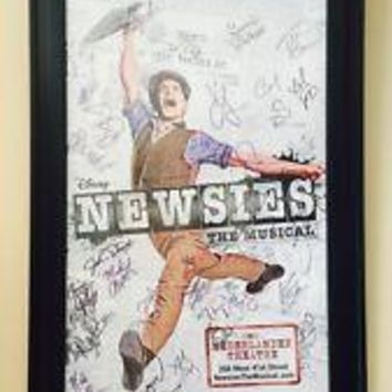 Newsies Signed Poster