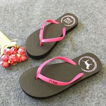 DCCKL72 Victoria's Secret PINK dog beach sandals sandals slipper female female slippers