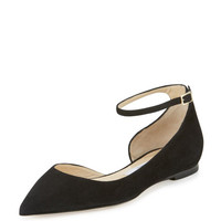 Jimmy Choo Lucy Suede Half-d'Orsay Flat
