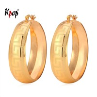 Kpop Big Hoop Earrings For Women Vintage G Letter Yellow Gold/Silver Jewelry Fashion New  Big Hoop Earring Fashion Jewelry E976