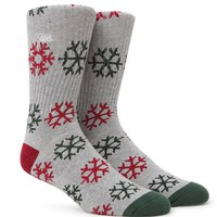 Vans Happy Ollie Days Crew Socks - Mens Socks - Grey - One