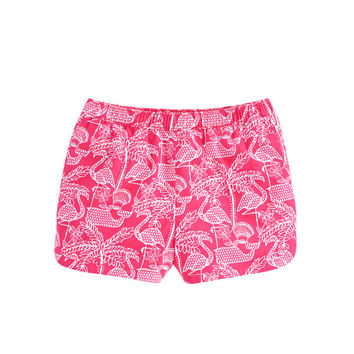 Girls Flamingo Print Pull On Shorts