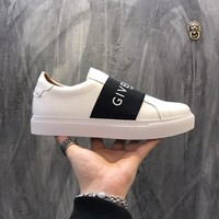 Givenchy Paris Strap Sneakers In Leather Bh0003h017-116 - Best Online Sale