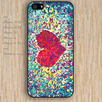 iPhone 5s 6 case cartoon college heart case Dream colorful phone case iphone case,ipod case,samsung galaxy case available plastic rubber case waterproof B492