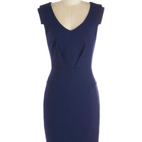 Change with the Clock Dress in Navy