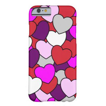 Valentines Love Hearts Barely There iPhone 6 Case
