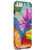 pretty colored flowers tough iPhone 6 plus case
