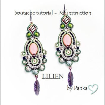 TUTORIAL ONLY! Hand Embroidered Soutache Tutorial, step by step pdf pattern in English