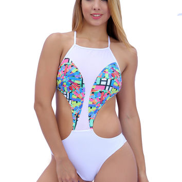 White Designer One Piece