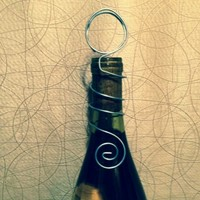 Open Circle Wedding Wine Bottle Toppers Table Number Holders | bitspeaces - Wedding on ArtFire