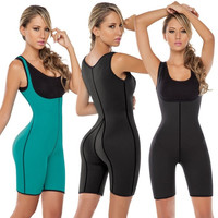 Sexy Women's Neoprene Vest Full Bodysuit Shapewear GYM Ultra Sweats Running Sporty Corset