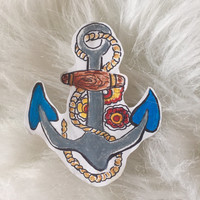 American Traditional Anchor Sticker