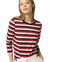 ¾ LENGTH SLEEVE STRIPE TOP | Tommy Hilfiger