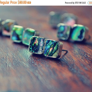 JULY 4th SALE ABALONE Studs /// Electroformed Abalone /// Gold /// Stud Earrings