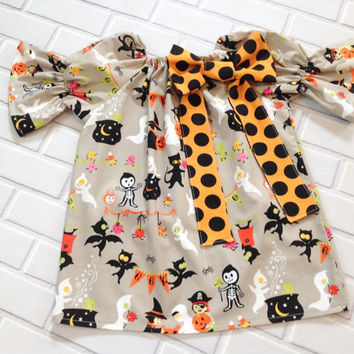 2T Halloween Dress Toddler Ready To Ship Boutique Clothing By Lucky Lizzy's