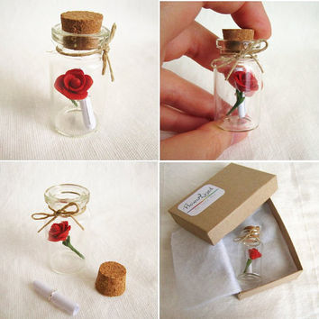 Message in a bottle, Will you marry me or other  messages,Custom Gift, Valentine's day gift idea,MADE TO ORDER