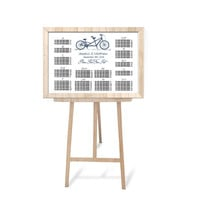 Wedding Seating Chart Poster Template - Navy Tandem Bike Printable Wedding Seating Board Template - Bicycle Editable PDF - DIY You Print