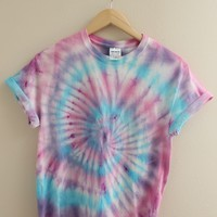LOW STOCK Pastel Berry Tie-Dye Swirl Unisex Shirt