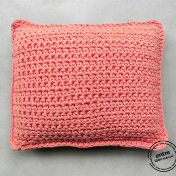 handmade crochet PILLOW, ENTRE collection  - design N 011, born May 2013, by the hands of ARTSPAZIOS