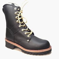 Climate X Black Hiking Ankle Boots