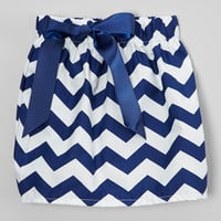 Navy & White Zigzag Bow Skirt - Infant, Toddler & Girls | something special every day