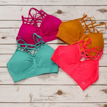 Caged Bralettes- Brights in 4 Colors