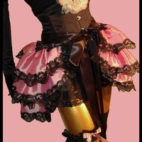 Burlesque Bustle Skirt Boudoir Style Marie Antoinette ALL ABOUT EVE Pink Shrug or Capelet